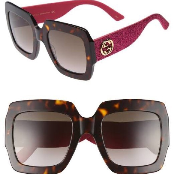 583e74f7ad4f 3 Pairs NEW Gucci Havana Pink Glitter Sunglasses